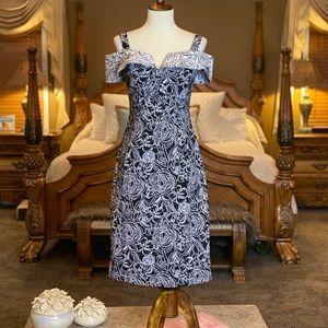 Joseph Ribkoff Iconic Off the Shoulder Dress Sz 6